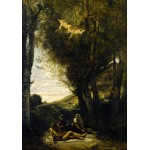 Puzzle  Grafika-01943 Jean-Baptiste-Camille Corot : Saint Sebastian Succored by the Holy Women, 1874