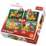 Trefl-34317 4 Puzzles - Le Roi Lion