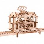 Ugears-12019 Puzzle 3D en Bois - Tram sur les Rails