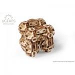 Ugears-12074 Puzzle 3D en Bois - Flexi-Cubus