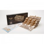 Ugears-12090 Puzzle 3D en Bois - Card Holder