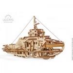 Ugears-12098 Puzzle 3D en Bois - Remorqueur