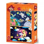 2 Puzzles -  The Astronaut and The Baby Pegasus