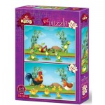2 Puzzles - Animals and Babies