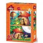 2 Puzzles - The Mushroom House