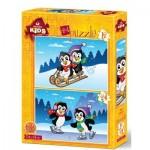 2 Puzzles - The Penguins