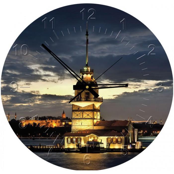 Puzzle Horloge - The Maiden's Tower, Tour de Léandre, Turquie (Pile non fournie)