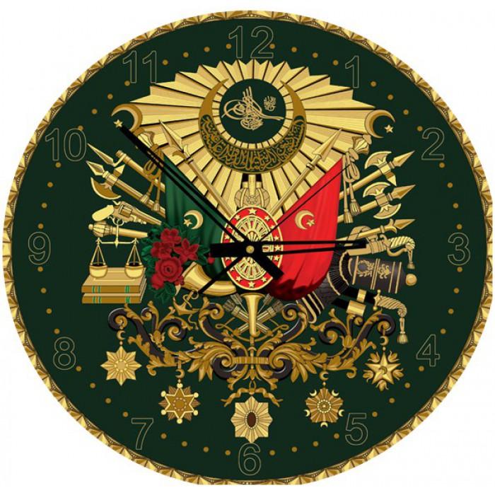 Puzzle Horloge avec Paillettes dorées - Emblème Ottoman (Pile non fournie)
