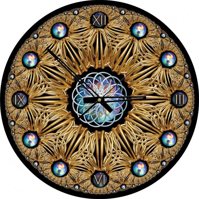Puzzle Horloge - Golden (Pile non fournie)