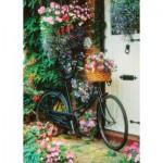 Puzzle  Art-Puzzle-4166 Vélo et Fleurs