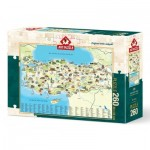 Puzzle  Art-Puzzle-4288 Carte de la Turquie