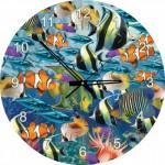 Art-Puzzle-4292 Puzzle Horloge - Poissons Tropicaux (Pile non fournie)