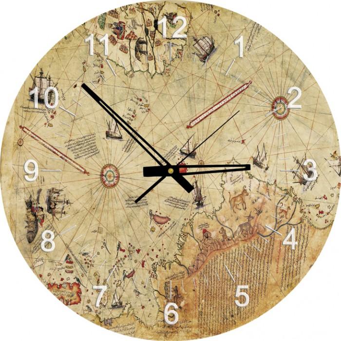 Puzzle Horloge - Carte de Piri Reis (Pile non fournie)