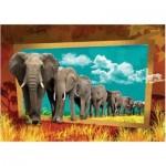 Puzzle  Art-Puzzle-4373 Eléphants