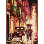 Puzzle  Art-Puzzle-4426 Malte : La Valette au Crépuscule