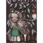 Puzzle  Art-Puzzle-4538 Owl Family