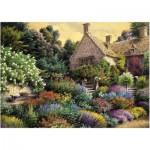 Puzzle  Art-Puzzle-4541 Cottage et Jardin Coloré