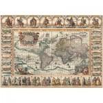 Puzzle  Art-Puzzle-4711 Vieille Carte du Monde