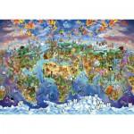 Puzzle  Art-Puzzle-4717 World Wonders Illustrated Map