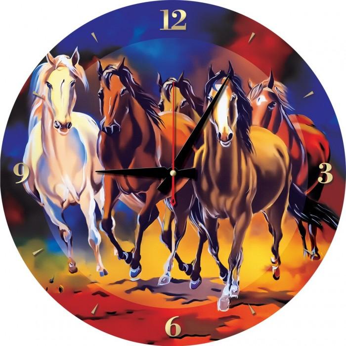 Puzzle Horloge - Chevaux (Pile non fournie)