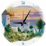 Art-Puzzle-5005 Puzzle Horloge - In the Evening in Aegean (Pile non fournie)