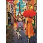 Puzzle  Art-Puzzle-5089 Friendship under the Rain