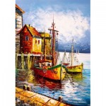 Puzzle  Art-Puzzle-5091 The Orange Port
