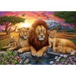 Puzzle  Art-Puzzle-5221 Lion Family
