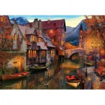 Puzzle  Art-Puzzle-5476 Canal Boats