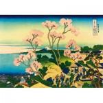 Puzzle  Art-by-Bluebird-60093 Katsushika Hokusai - Shinagawa on the Tokaido, 1832