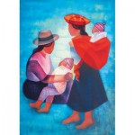 Puzzle  Art-by-Bluebird-60139 Louis Toffoli - Famille Péruvienne, 1986