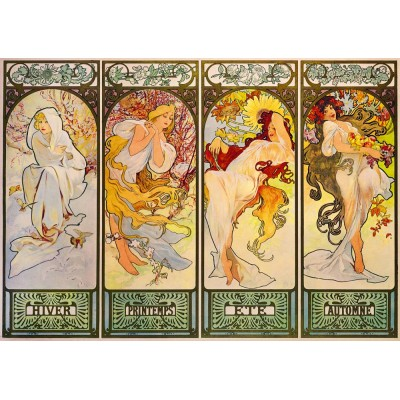 Puzzle Art-by-Bluebird-Puzzle-60056 Mucha - Four Seasons, 1900