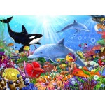 Puzzle  Bluebird-Puzzle-70028 Bright Undersea World
