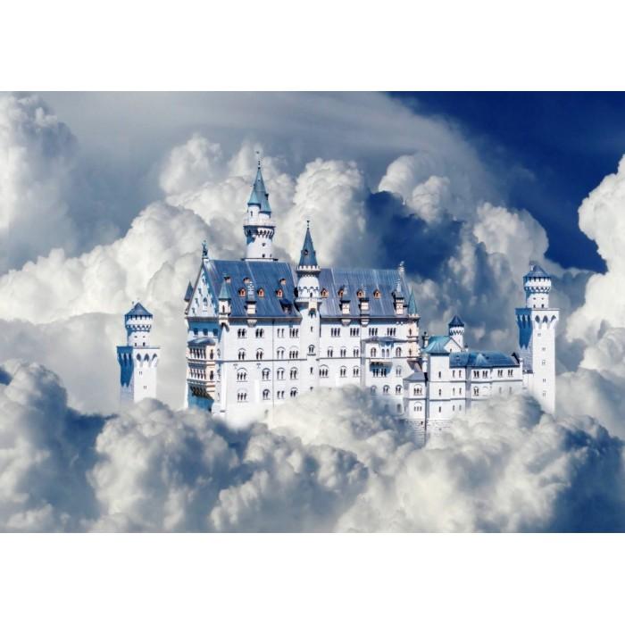 Neuschwanstein Castle in Clouds