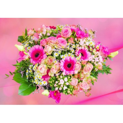 Puzzle Bluebird-Puzzle-70046 Pink Bouquet of Roses