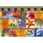Puzzle  Bluebird-Puzzle-70081 Tropical Quilt Mosaic