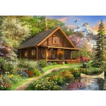 Puzzle  Bluebird-Puzzle-70118 A Log Cabin Somewhere in North America