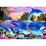 Puzzle  Bluebird-Puzzle-70132 Dolphin Panorama