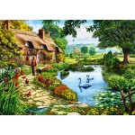 Puzzle  Bluebird-Puzzle-70315-P Cottage by the Lake