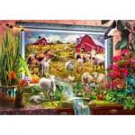 Puzzle  Bluebird-Puzzle-70499-P Magic Farm Painting