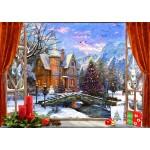 Puzzle   Christmas Mountain View
