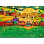 Puzzle   Hundertwasser - Irinaland over the Balkans, 1969