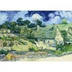 Puzzle   Vincent Van Gogh - Thatched Cottages at Cordeville, 1890