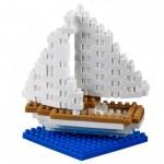 Brixies-38449020 Nano Puzzle 3D - Carte Voilier