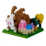 Brixies-38449021 Nano Puzzle 3D - Carte Joyeuses Pâques