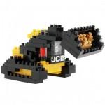 Brixies-38449139 Nano Puzzle 3D - Bulldozer JCB