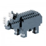 Brixies-57927 Nano Puzzle 3D - Rhinocéros