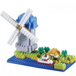 Brixies-58210 Nano Puzzle 3D - Moulin à Vent (Level 3)