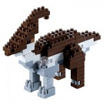 Brixies-58439 Nano Puzzle 3D - Dinosaure