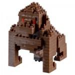 Brixies-58458 Nano Puzzle 3D - Gorille